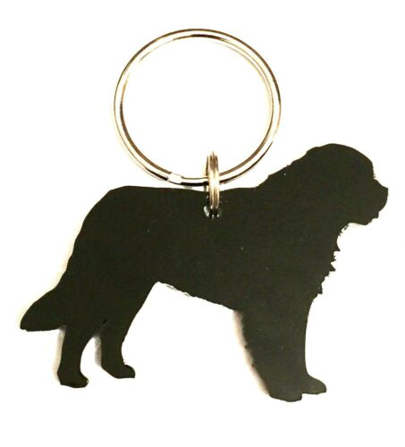 Saint Bernard Dog Keyring Lanyard Keychain Bag Charm Zipper Charm Gift In Black