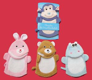 Kinder-Baby-Waschlappen-Waschhandschuh-Duschhandschuhe-Badehandschuh-Tiere