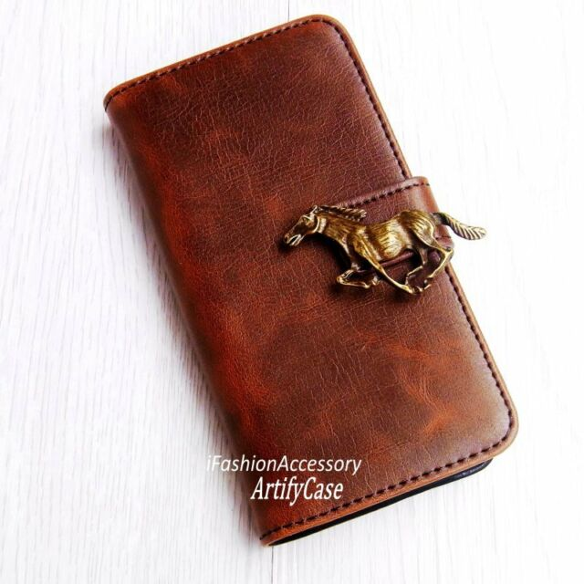 New Horse phone wallet Leather flip case Card Stand cover For Samsung S5 S6 Edge