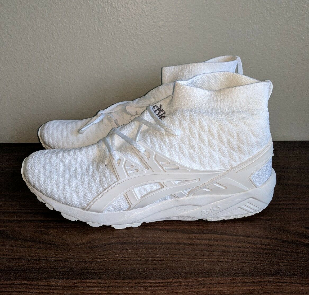 Asics Gel Kayano Trainer Knit MT White H7P4N 0101 Sz 10.5