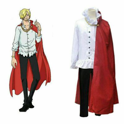 Anime One Piece Vinsmoke Sanji Cosplay Costume Free Shipping Ebay