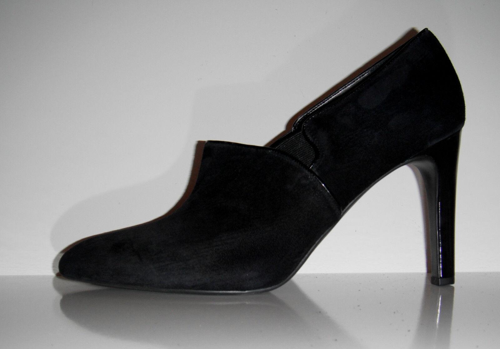 New  Franco Sarto Joy Pointy Toe Black Suede Shootie Boots sz 10M
