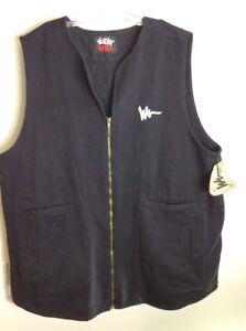 RARE-Vintage-Walker-Wear-Black-Long-Vest-By-Mike-Tyson-80s-90s-Hip-Hop-NWT-XXL