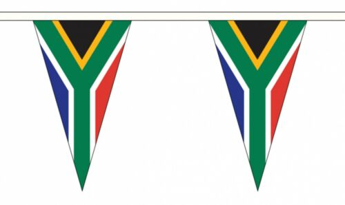 SOUTH AFRICA TRIANGULAR BUNTING 5 metres 12 flags Polyester flag AFRICAN
