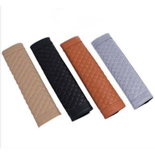 Car Faux Leather Head Cushion Shoulder Cover Pad  Car Seat Belt Cushion T