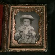 Adorable Dapper Little Boy with Busy Hands Ninth Plate 1/9 Daguerreotype Great