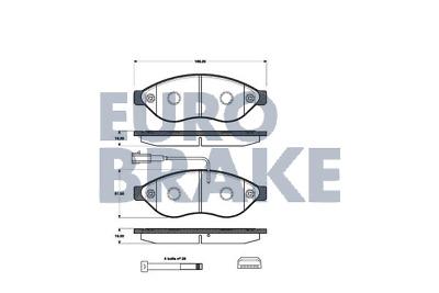 Bremsbelagsatz Scheibenbremse Eurobrake 5502223632