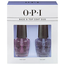 OPI Nail Polish Boxed Top Coat & Base Coat 2 bottle set 15ml