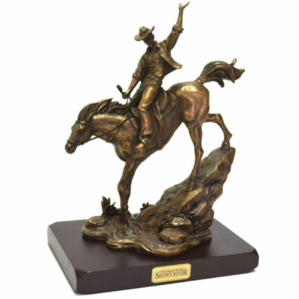The Man from Snowy River Hand Crafted Bronze Figurine - Outback Heritage Series