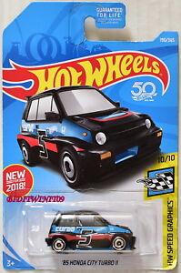 2018 Hot Wheels #190 HW Speed Graphics /'85 Honda City Turbo II