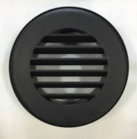 Round Rv Furnace Wall Register Vent - Black - Single