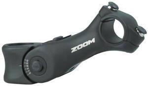 "Zoom 25.4 125mm 80-130 Degree 1-1//8/"" Adjustable Threadless Stem Black"