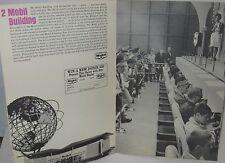 1964 NY World's Fair Mobil Oil Building Booklet & Fair Check List