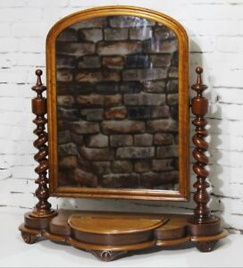 huge discount 364dd 32c15 Details about Antique Victorian Mahogany Dressing Table Mirror - FREE  Shipping [PL3898]
