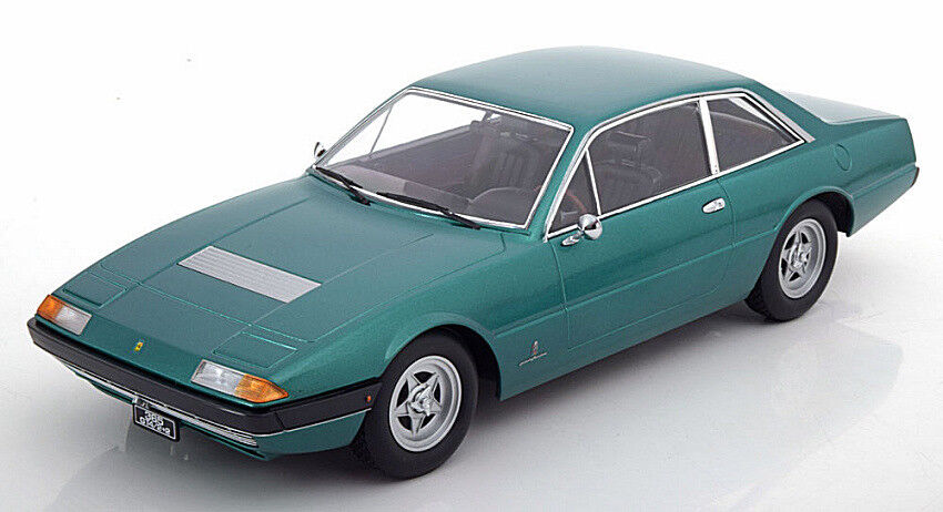 Ferrari 365 gt4 2+2 1972 light green 1 18 scale model kk