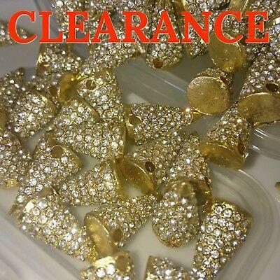 WHOLESALE 50x 10mm Crystal Clay Disco Ball Shamballa Beads UK Top Quality
