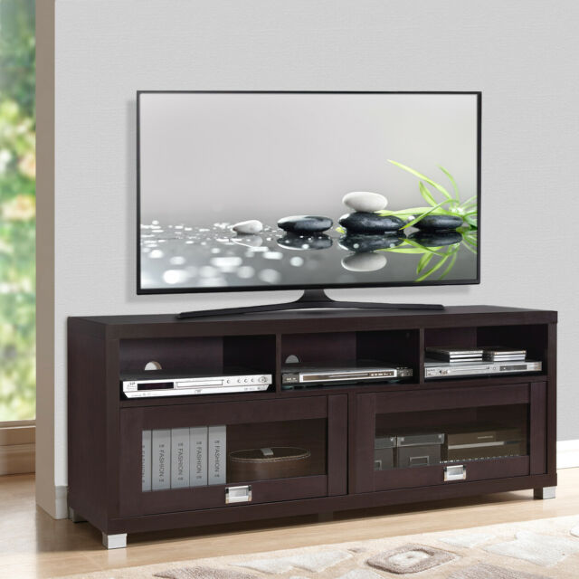 Wood Tv Stand Entertainment Center Flat