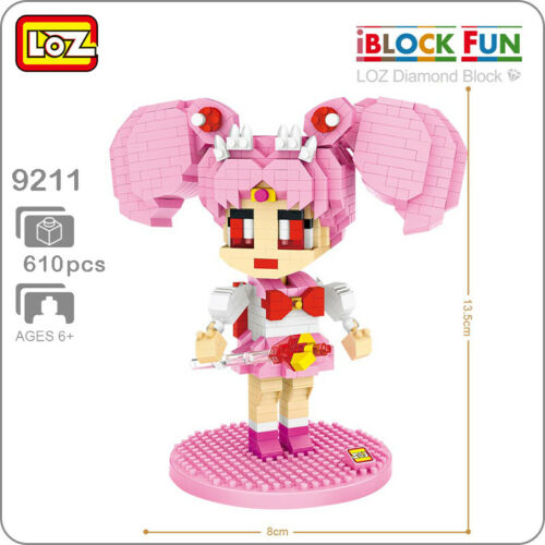 LOZ 9211 Anime Sailor Moon Chibiusa Girl Nano Blocks Diamond Mini Building Toy