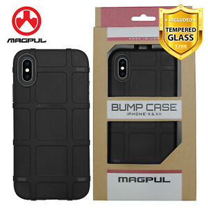 Magpul-Bump-Polymer-Case-For-iPhone-Xs-X-8-7-Plus-100-Genuine-Tempered-Glass