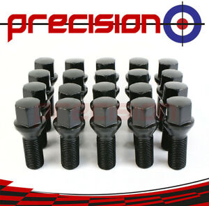 20-Black-Chrome-Wheel-Nut-Bolts-for-BMW-5-Series-F10-Saloon