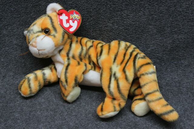 Ty INDIA - Bengal Tiger Cat Beanie - 2000 - New - Great Tag