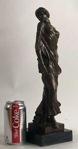 42 cm Western art deco bronze Glass half-naked Young women