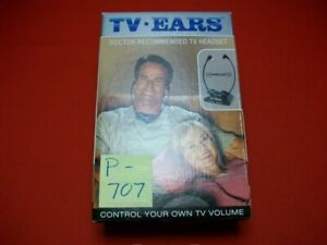 """BRAND NEW """"TV-EARS"""" WIRELESS HEADSET FOR LISTENING TO A TV IN A LOUD ENVIRONMENT"""