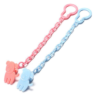 2pcs New Baby Dummy Pacifier Soother Nipple Chain Clip Buckle Holder Toddler Toy