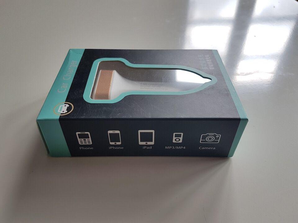 Billader, 2.1 USB med LCD skærm