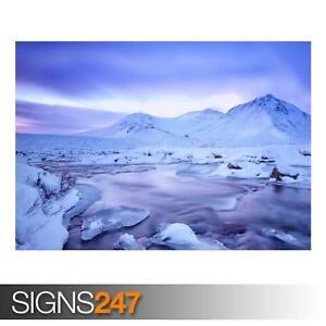 SCOTLAND-HIGHLANDS-WINTER-AD982-NATURE-POSTER-Poster-Print-Art-A0-A1-A2-A3