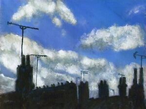 Terry-George-painting-of-a-cloudy-sky-in-Norwich