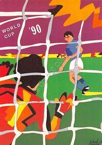 Cartolina-Calcio-World-Cup-90-Genova-Stadio-Ferraris-Gruppo-C