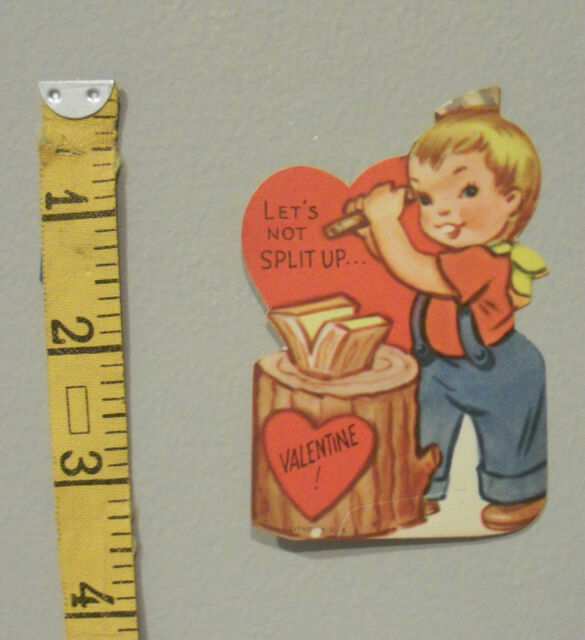 Vintage Valentine Card 40/'s Sailor Navy Marching Band Bass Drummer Guess Unused