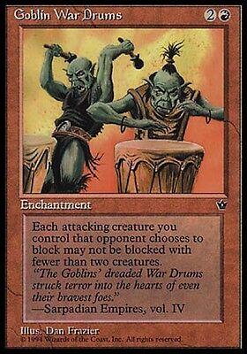 4x Goblin War Drums V3 Fallen Empires MtG Magic Red Common 4 x4 Card Cards