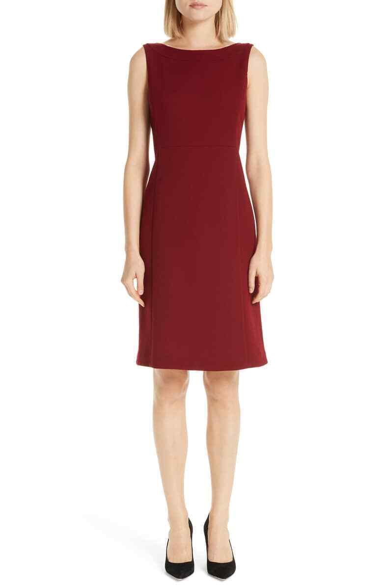 LAFAYETTE 148 NEW YORK PAXTON SHEATH SCARLET DRESS  sz  16