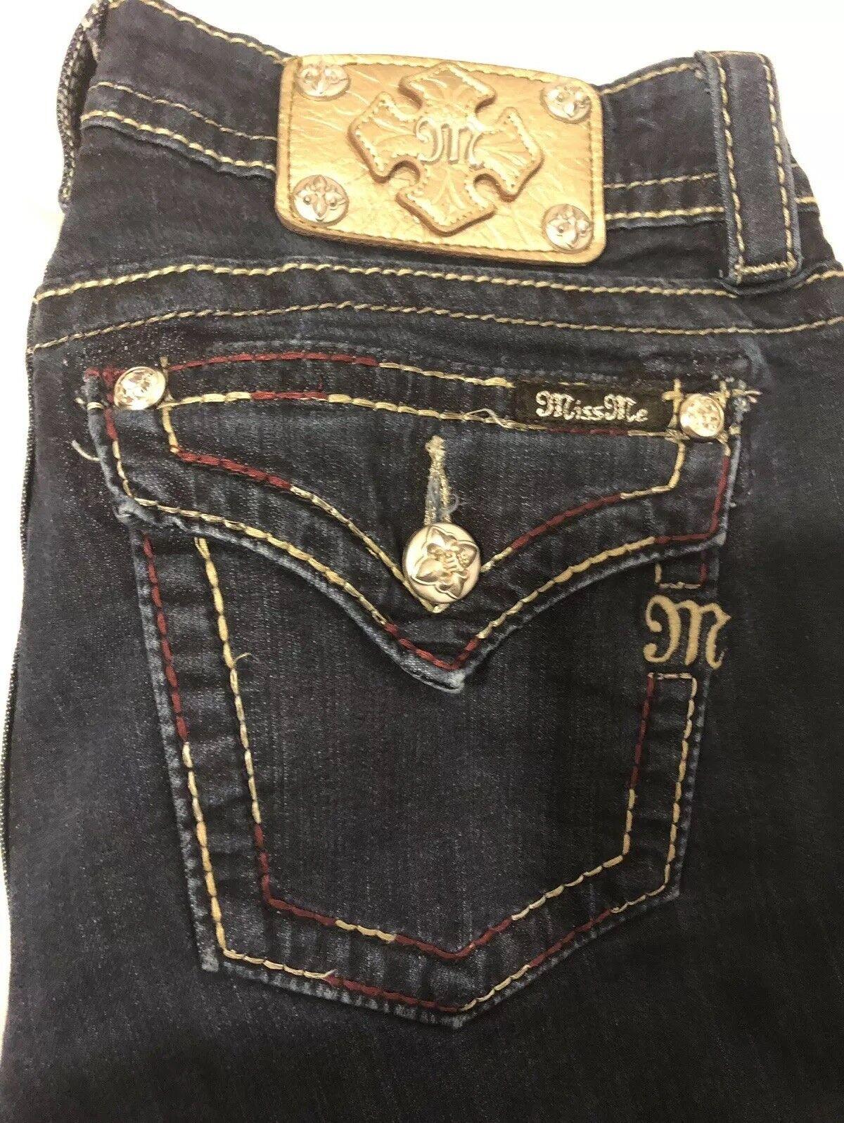 Miss Me Women's Signature Skinny Jeans Dark Wash  Sz 28 31- EUC