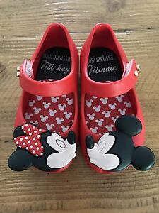 Newest Mini Melissa Mickey Princess Beach Sandals Kids Toddler Size US Size 7 yJ
