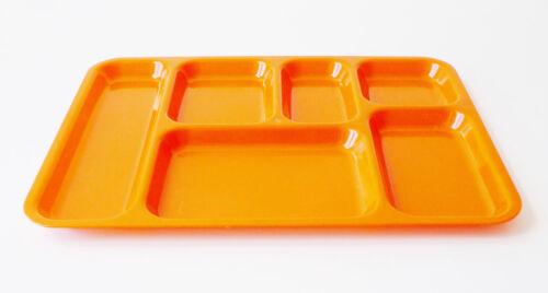 plateau repas télé vintage des années 70 pop 70/'s plastique orange design 1970