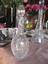 #159 Decanter Crystal Pinwhell for cognac whisky bourbon clear glass 11.5""