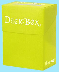 Ultra-Pro-DECK-BOX-BRIGHT-YELLOW-Card-Holder-NEW-Standard-Small-Size-Storage-MTG