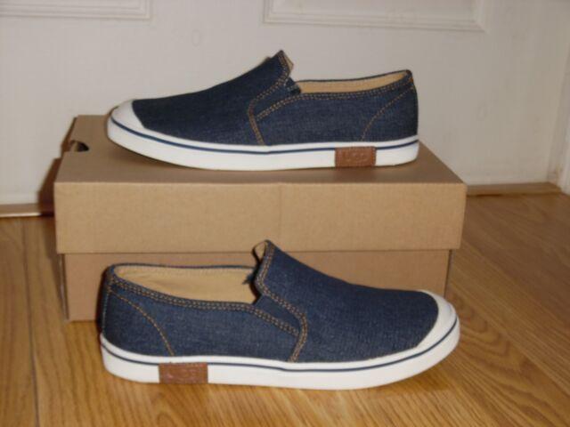 7be49abbf1d UGG Australia Unisex Randi Denim Blue Slide Slip on Shoes Size 2 Youth