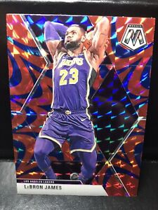 2019-20 Panini Mosaic Lebron James Blue Reactive Prizm SP  No.8 LA Lakers Fresh