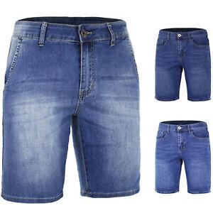 Bermuda-Uomo-Cotone-Pantaloncino-Jeans-Corto-Casual-Slim-Elasticizzato-VEQUE