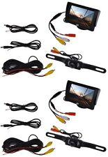 LOT 2~TFT LCD Monitor Car Rear View System Backup Reverse W/ Night Vision Camera