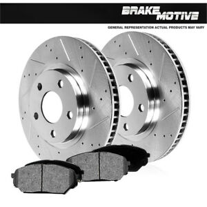 Front-Drill-And-Slot-Brake-Rotors-amp-Metallic-Pads-For-4WD-Expedition-Navigator
