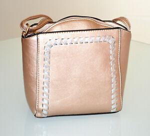 Handtas À Bolsa Rose Pochette Faux G100 Argent Sac Femme Cuir Or Sur Main Bronze Détails 8Ov0PyNnwm