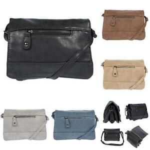 Kleine-Damen-Schultertasche-Tasche-Umhaengetasche-PU-Handtasche-Crossover-Bag-Neu