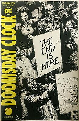 Doomsday Clock 1 Gary Frank Watchmen Sketch B W 1st Mime