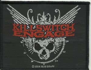 KILLSWITCH-ENGAGE-wings-2004-WOVEN-SEW-ON-PATCH-official-no-longer-made-RARE