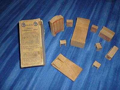 """""""a-es-ce"""" Miniatur Puppen-schlafstuben-möbel Aus Holz Aus Der Zeit 2. Weltkrieg"""